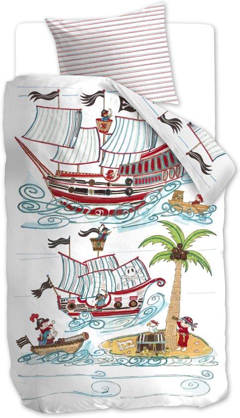 Beddinghouse Kids Pirate Ship - kinderdekbedovertrek - eenpersoons - 140x200/220 - Blauw