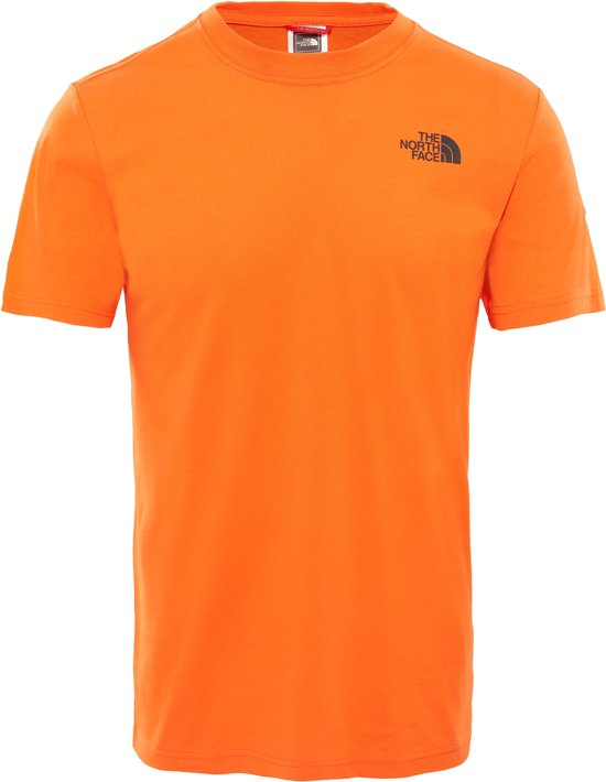 The Tee Red Orange Box North Face Persian Irqrxw01a