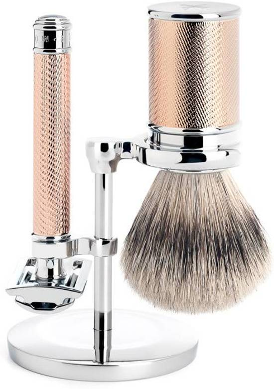 Muhle Safety Razor Scheerset Traditional Rose Goud