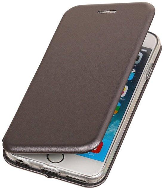 BestCases.nl Grijs Premium Folio leder look booktype smartphone hoesje voor Apple iPhone 7 / 8