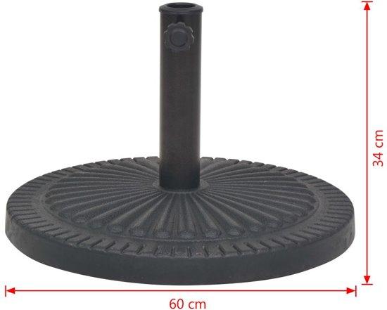 vidaXL Parasolvoet rond 29 kg hars zwart