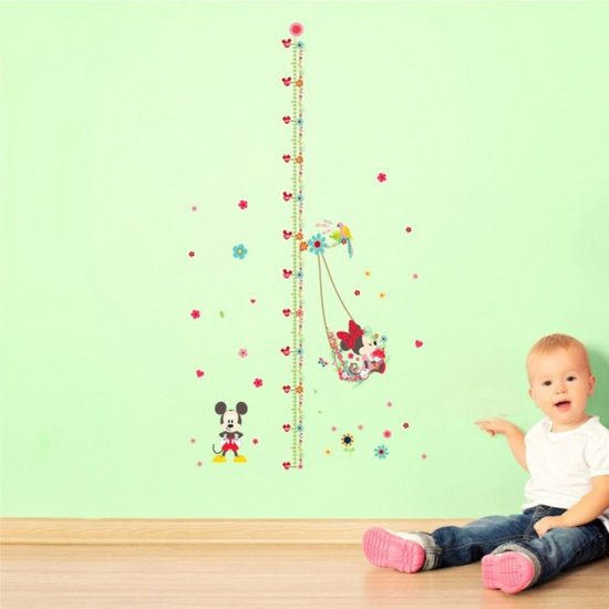Muurdecoratie Kinderkamer Disney.Muursticker Mickey En Minnie Mouse Lengtemeter Disney Kinderkamer Muurdecoratie