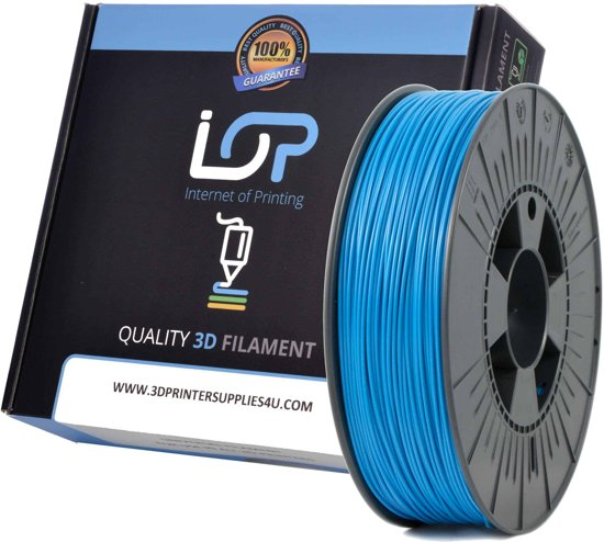 IOP PLA GLITTER METALLIC BLUE 175mm 500gr