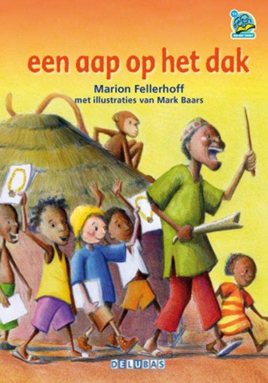 Boek cover Samenleesboeken - Een aap op het dak van Marion Fellerhoff (Hardcover)