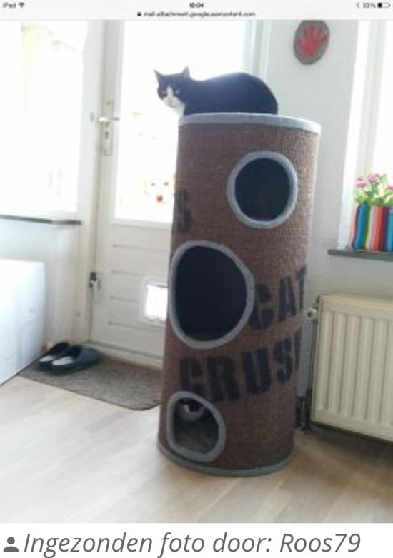 Beeztees Cats Crush - Krabton - Bruin - Groot - Ø 42 x 100 cm