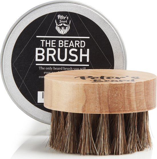 Baardborstels baardverzorging voor baardolie - Baardborstel hout rond set voor baardbalsems baard verzorging en baard olie - Baard borstel - 2 jaar garantie