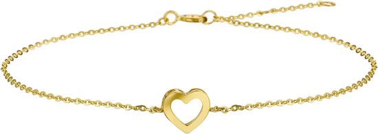 Selected Jewels 14K Gouden Heart Armband 4017989 (Lengte: 16.50-18.50 cm)