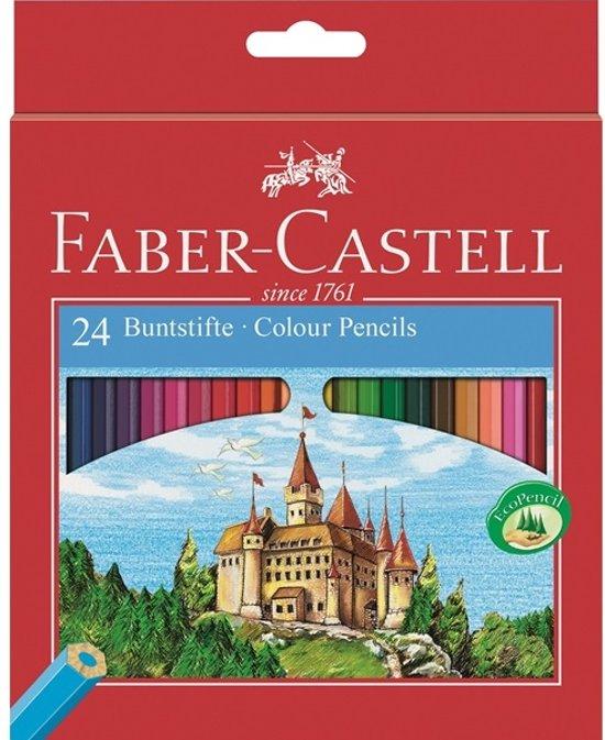 Kleurpotlood Faber Castell Castle kartonnen etui à 24 stuks