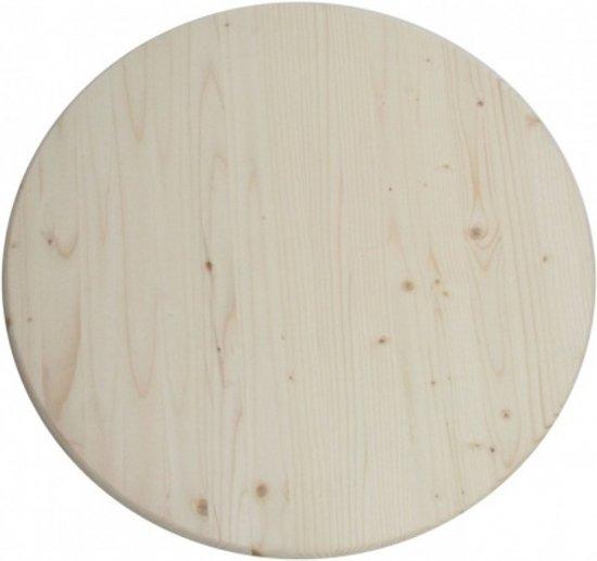 Rond Tafelblad Buiten.Maximavida Rond Tafelblad 100 Cm X 28 Mm A Grade Vurenhout