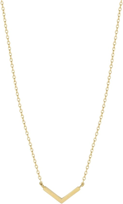 The Fashion Jewelry Collection Ketting V 0,8 mm 40-42-44 cm - Geelgoud