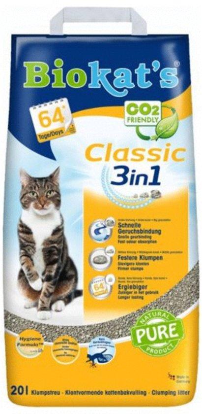 Biokat's Classic 3 in 1 - Kattenbakvulling - 20 L