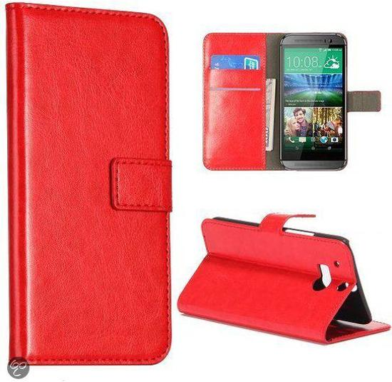 Htc One M8 Bookcase.Bol Com Rood Faux Lederen Bookcase Hoesje Htc One M8
