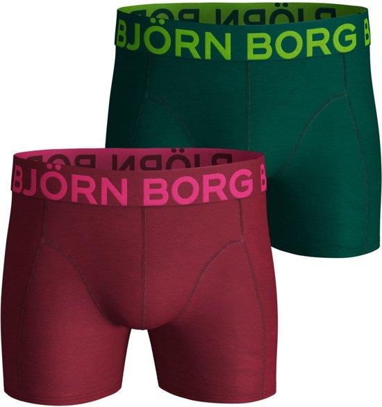 Bjorn Borg Neon solid Heren Boxershort - 2P - Rood - Maat S
