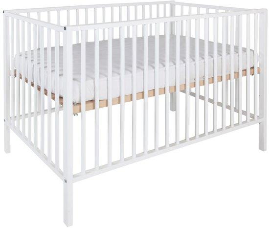 Standaard Afmetingen Babybed.Bol Com Kidsriver Felix Ledikant Wit 60 X 120