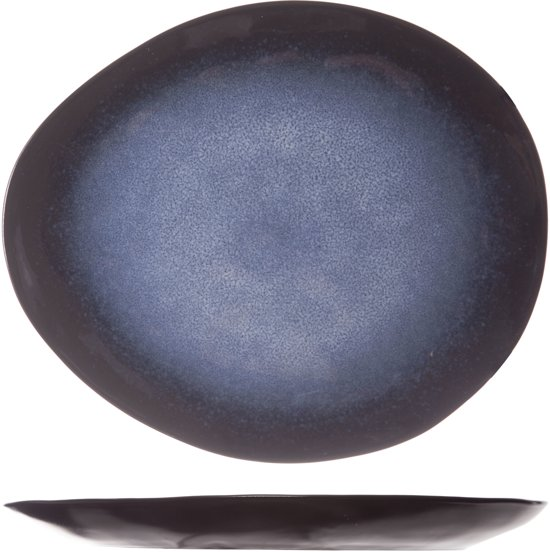 Cosy & Trendy Sapphire Dessertbord - Ovaal - 20.5 cm x 17.5 cm - Set-6