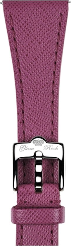 GS4254  - Glam Rock horlogeband leer fuchsia saffiano print