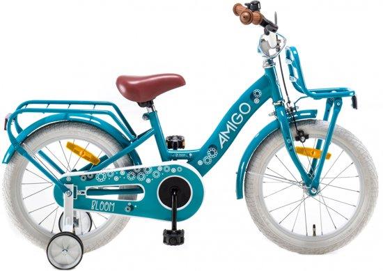 hete verkoop officiële afbeeldingen officieel bol.com | Amigo Bloom - Fiets - Meisjes - Turquoise - 16 Inch