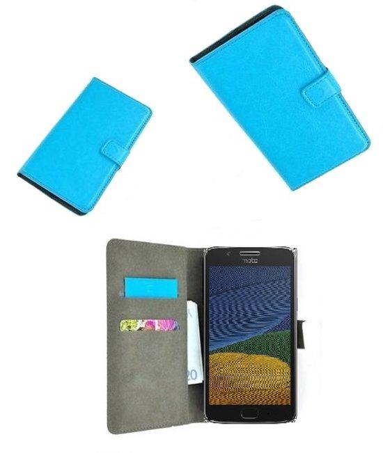 Turquoise Wallet Bookcase P Hoesje voor Motorola Moto G5