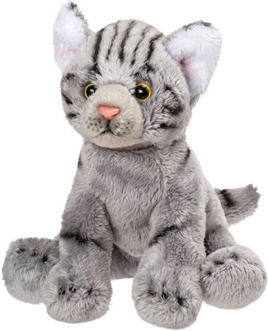 Verbazingwekkend bol.com | Pluche grijze poes/kat knuffel zittend 12 cm, Merkloos XH-81