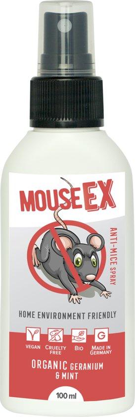 MouseEx - Muis afweerspray I Muis afweermiddel met pepermuntolie I Alternatief voor muizenvallen en muizengif I Organische knaagdierbestrijding I Natuurlijke knaagdierbeheersing