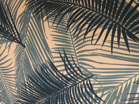 Behang Tropical wit / blauw