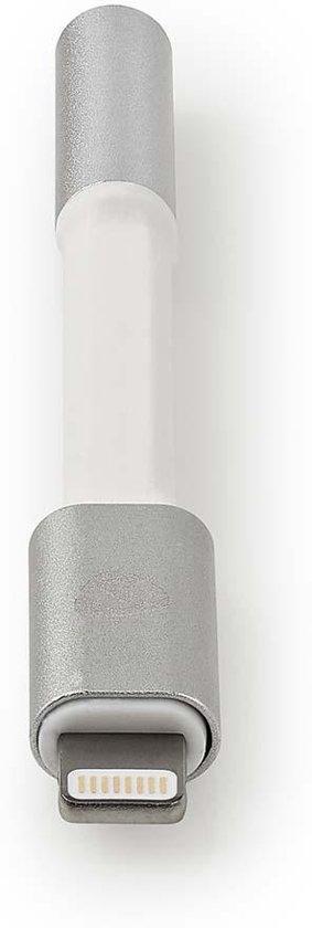 Nedis Premium 8-pins Lightning naar 3,5mm Jack audio adapter / aluminium - 0,15 meter