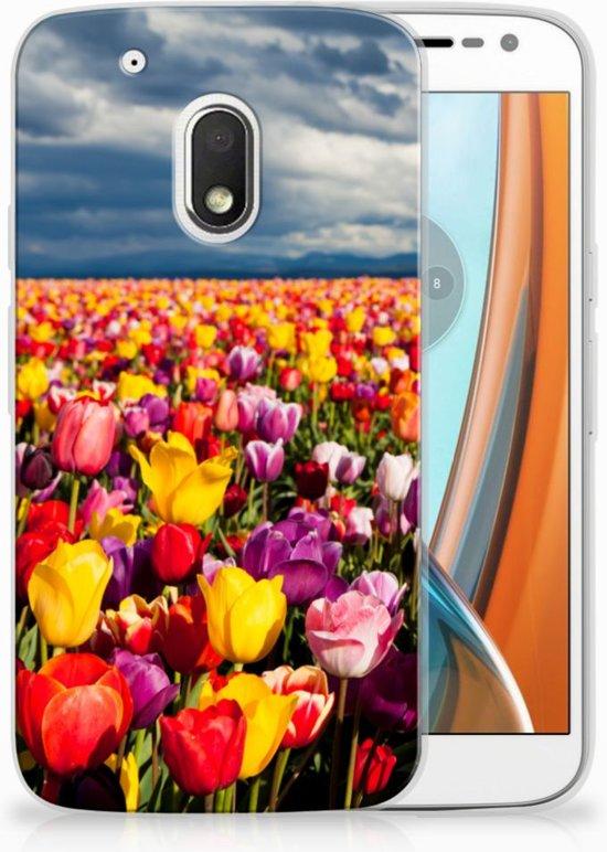Motorola Moto G4 Play Uniek TPU Hoesje Tulpen