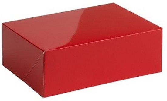 Geschenkdoos glans 30x22x7cm ROOD (10 stuks)