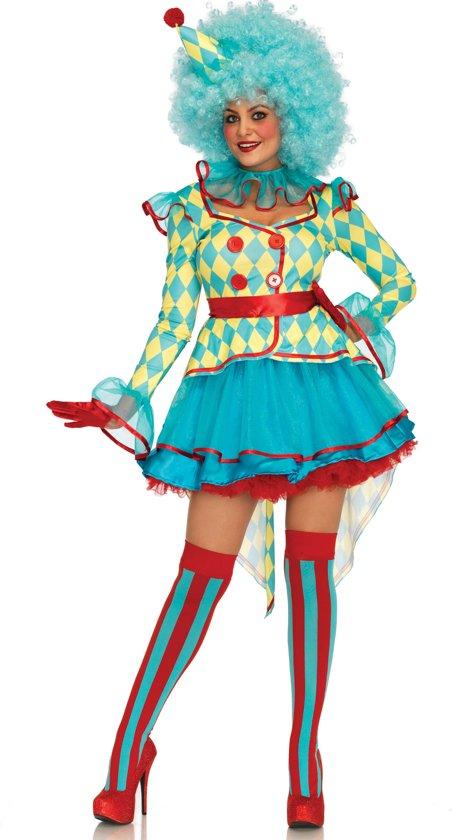 Carnival Clown kostuum - S - Multicolours - Leg Avenue