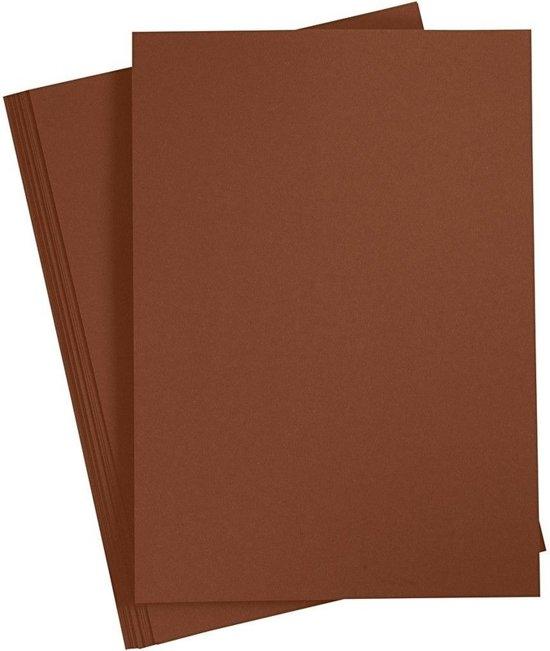 A4 hobby karton bruin 180 grams 1x