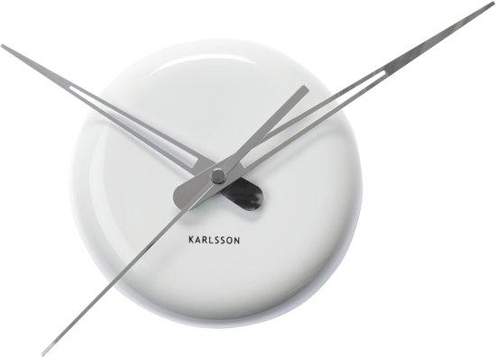 Karlsson Ceramic Dot - Klok - Rond - Aardewerk - Ø13.5 cm - Wit