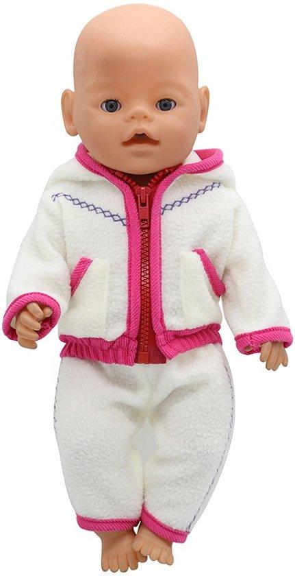 22fbdbe042ae9e Zacht 2-delig pakje voor pop 43cm (zoals Baby born) - Poppenkleertjes meisje