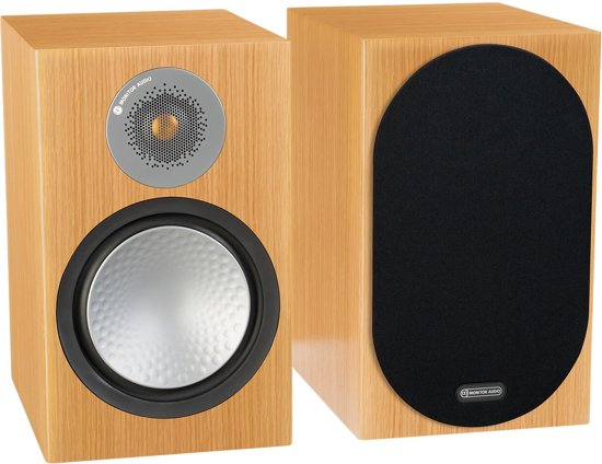 Monitor Audio Silver 100 - Boekenplank Speakers - Licht Eiken