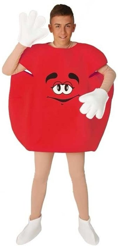 Rood M en M pak voor volwassenen