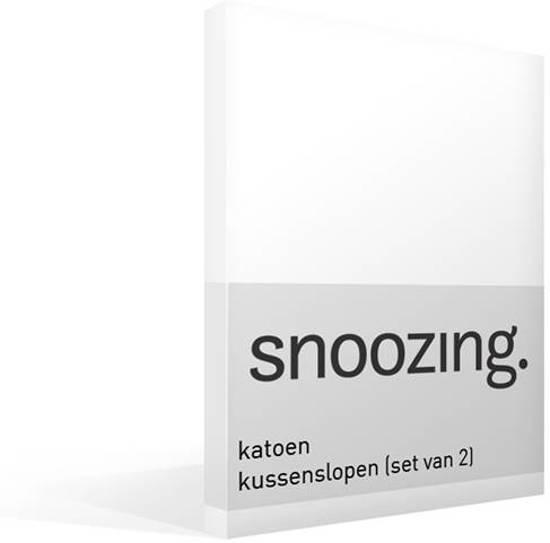 Snoozing katoen kussenslopen (set van 2) Wit 40x60 cm