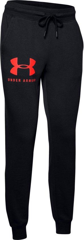 Under Armour 12.1 Rival Fleece Sportstyle Pant Dames Sportbroek - Zwart - Maat S