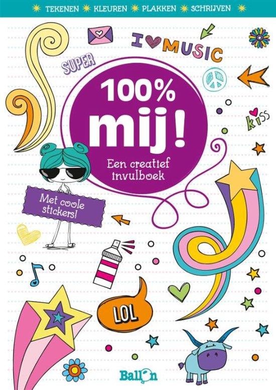 100 mij een creatief invulboek