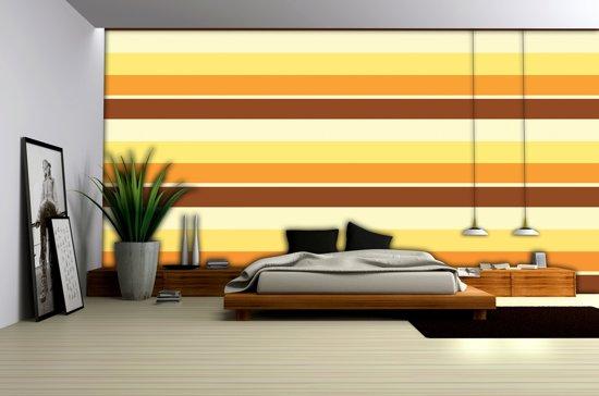 Bol fotobehang strepen bruin oranje cm