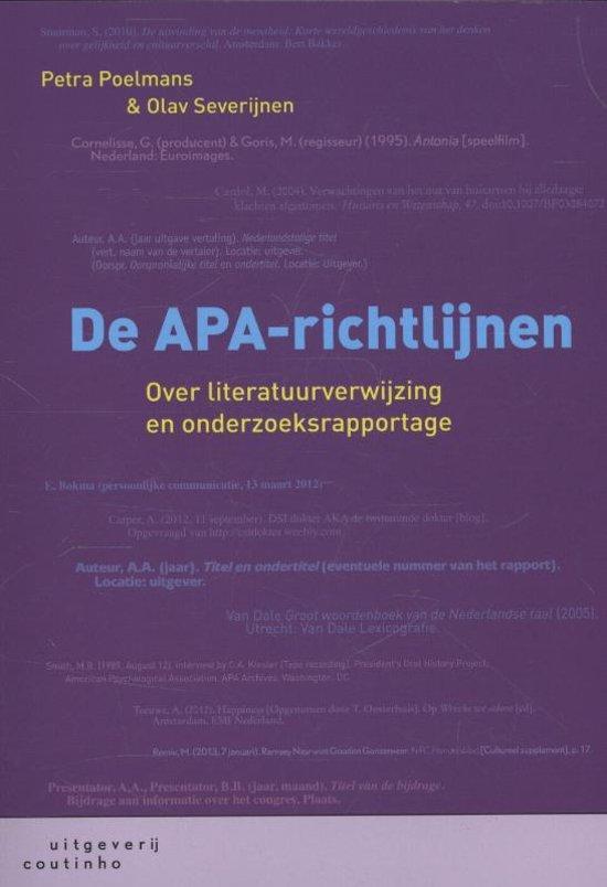 De APA-richtlijnen