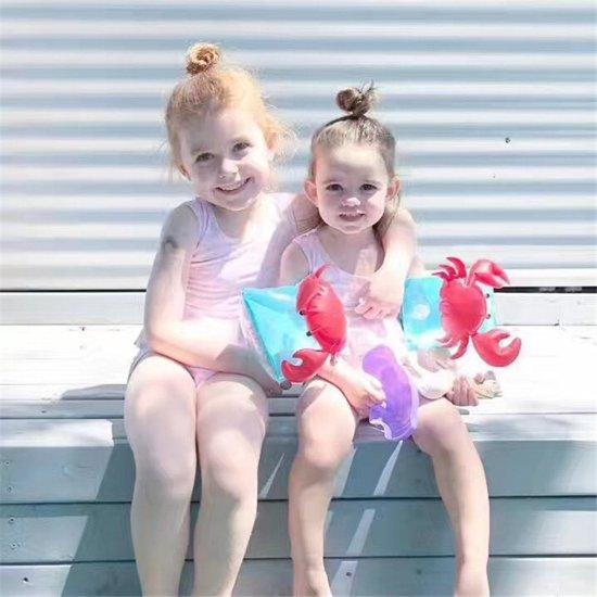 1 paar leuke zwembandjes | baby zwemvleugels | Opblaasbaar | Krab
