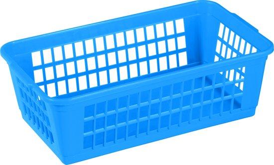 Set á 10 Opbergmandjes 2 ltr. 22 x 14 x 6 cm blauw