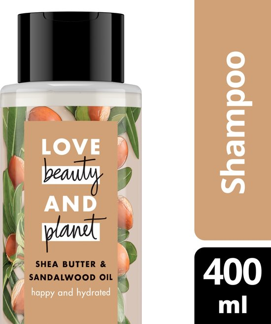 Love Beauty and Planet Shampoo Happy and Hydrated - 400 ml - Shea butter & Sandalwood