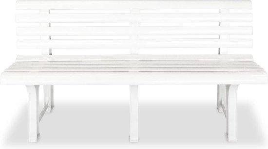 vidaXL Tuinbank 145,5 cm kunststof wit