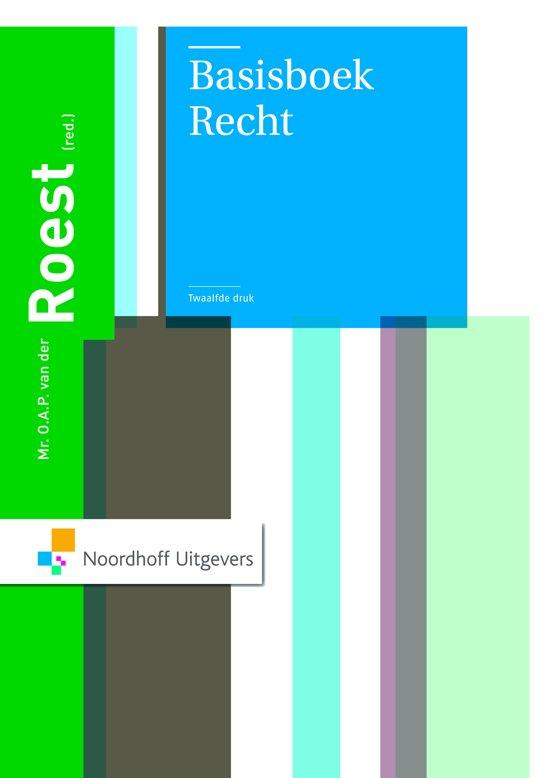 Boek cover Basisboek Recht van O.A.P. van der Roest (Paperback)