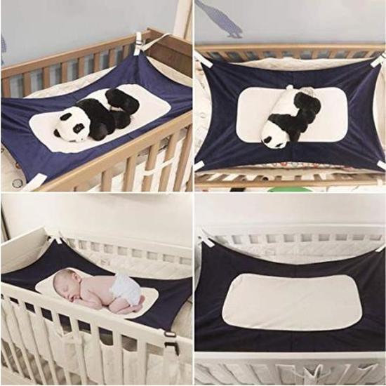 Hangmat In Box.Balonsie Baby Hangmat Hangmat Box Baby Wiegjes Katoen Veilig Comfort Slapen Bed Outdoor Tuin Marineblauw Babyshower