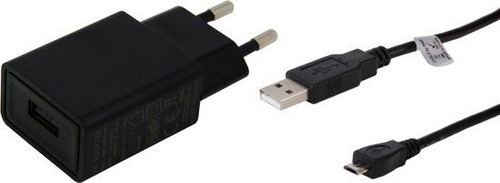 TUV gekeurde 2A oplader. 0,8 m Micro-USB kabel, geschikt voor: Sanyo. o.a. Sanyo Incognito SCP-6760, Katana Eclipse, Eclipse X, LX, SCP-3800, Pro-200, Pro-700, S1, SCP-2700, SCP-3810