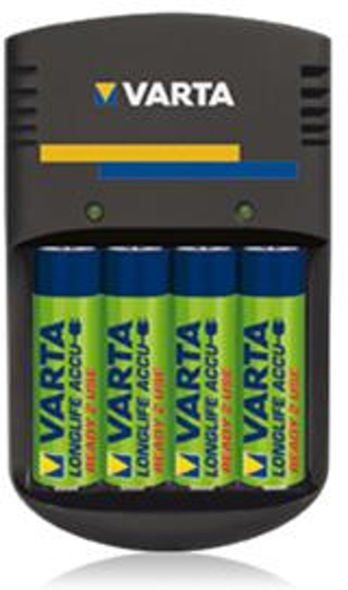 Varta Plug batterijlader voor AA / AAA batterijen  - inclusief batterijen