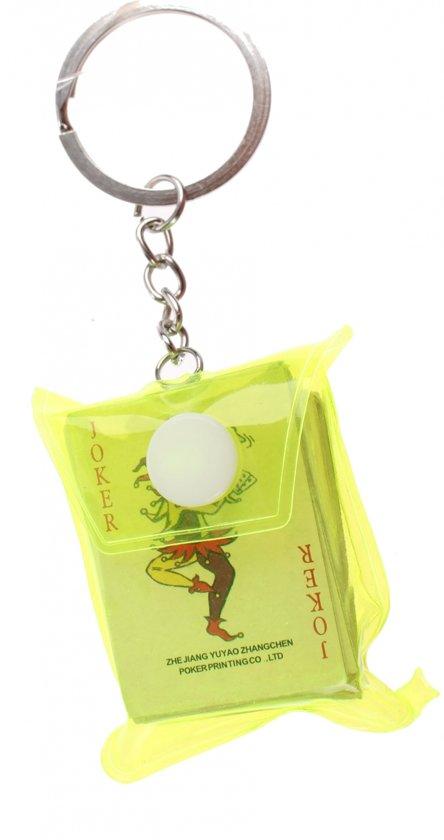 Toi-toys Sleutelhanger Tasje Met Kaartenset 5 Cm Geel