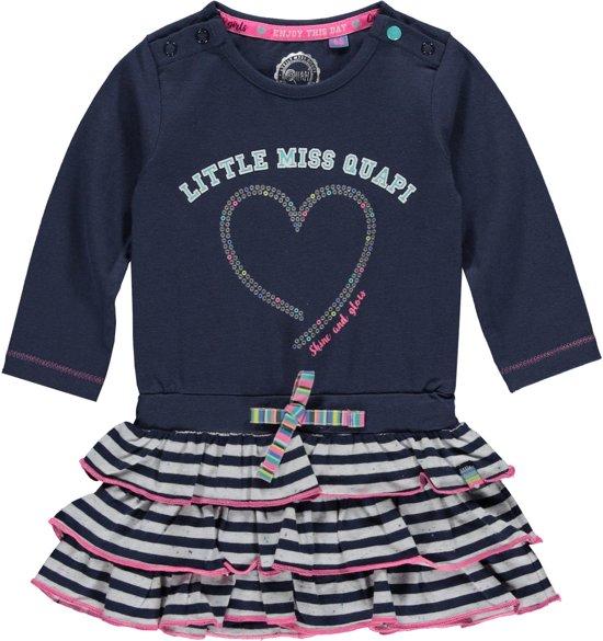 b846d2250f2f02 Quapi babykleding meisjes jurkje Gala 2 True blue maat 62 - bol.com