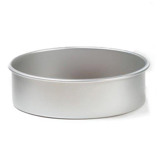 Ronde aluminium bakvorm 7.5cm hoog, 15cm Ø - Decora